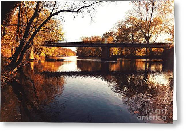 Kayaking The Driftwood River - Autumn Bliss Greeting Card