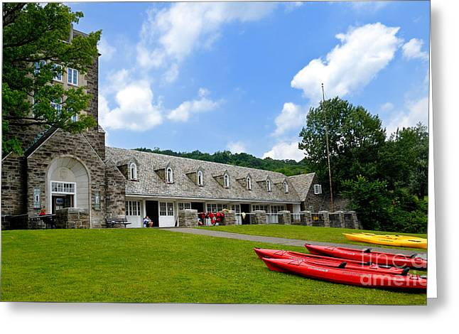 Kayaks At Boat House North Park Pittsburgh Pennsylvania Greeting Card by Amy Cicconi