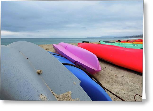Kayaks Greeting Card by Connor Beekman