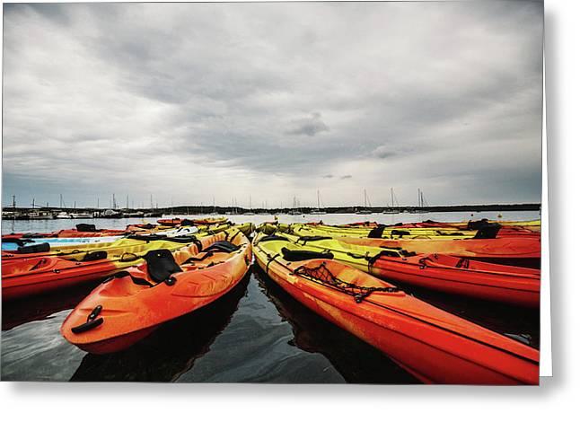 Kayaks Greeting Card