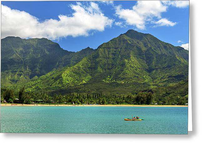 Kayaks In Hanalei Bay Greeting Card
