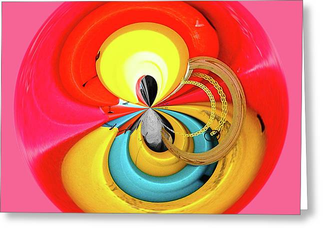 Greeting Card featuring the photograph Kayaks Orb by Bill Barber