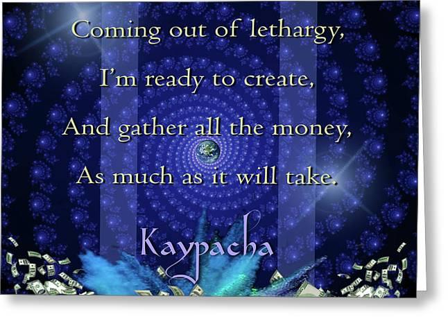 Kaypacha June 8, 2016 Greeting Card by Richard Laeton
