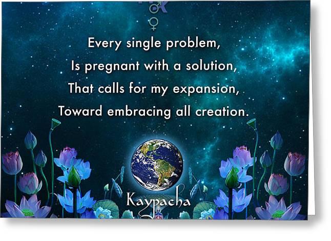 Kaypacha's Mantra 10.28.2015 Greeting Card