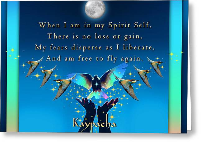Kaypacha's Mantra 1.20.2016 Greeting Card by Richard Laeton