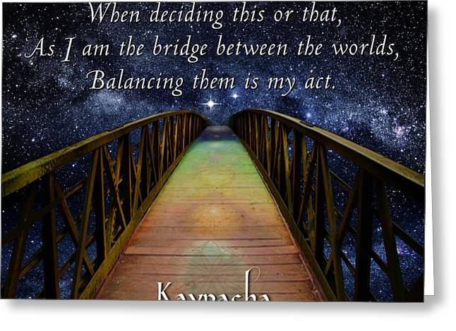 Kaypacha's Mantra 3.16.2016 Greeting Card by Richard Laeton
