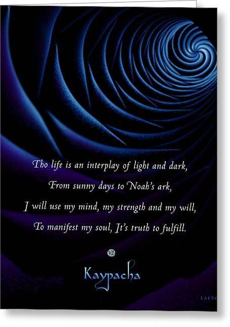 Kaypacha's Mantra 4.28.2015 Greeting Card
