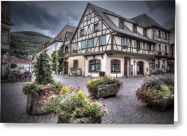 Kaysersberg, Alsace Greeting Card by Sandra Rugina