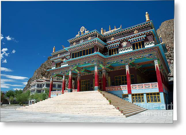 Greeting Card featuring the photograph Kaza Monastery by Yew Kwang