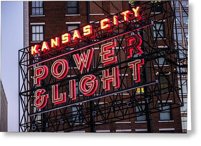Greeting Card featuring the photograph Kc Power And Light by Jim Mathis