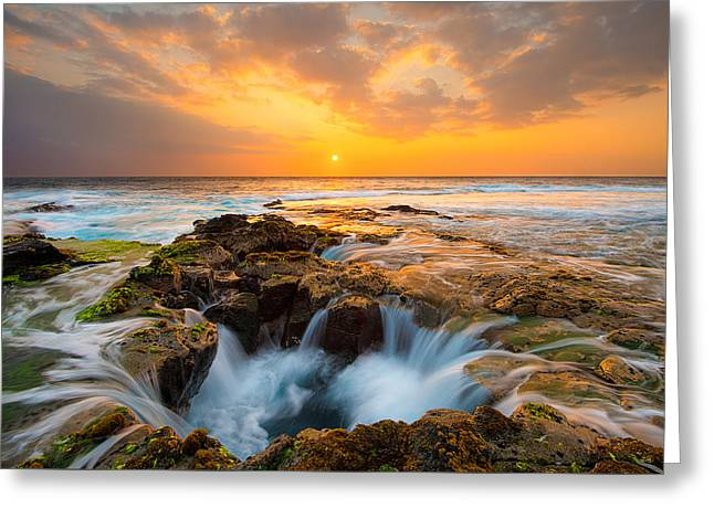 Kona Sunset Greeting Card by Patrick Campbell