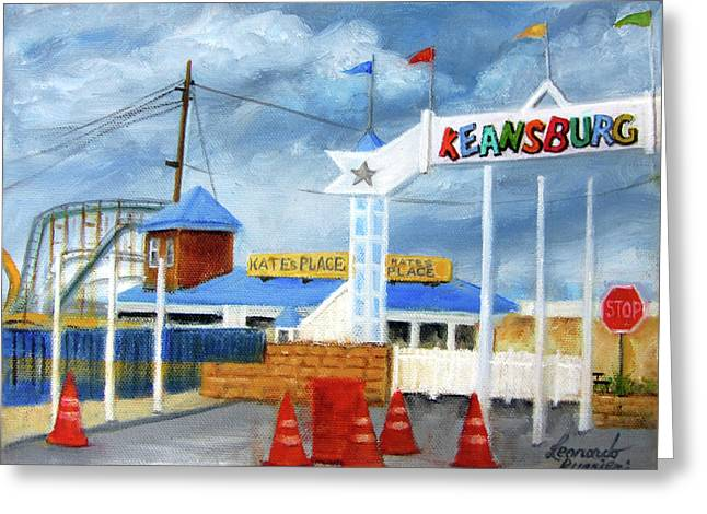 Keansburg Amusement Park Greeting Card by Leonardo Ruggieri