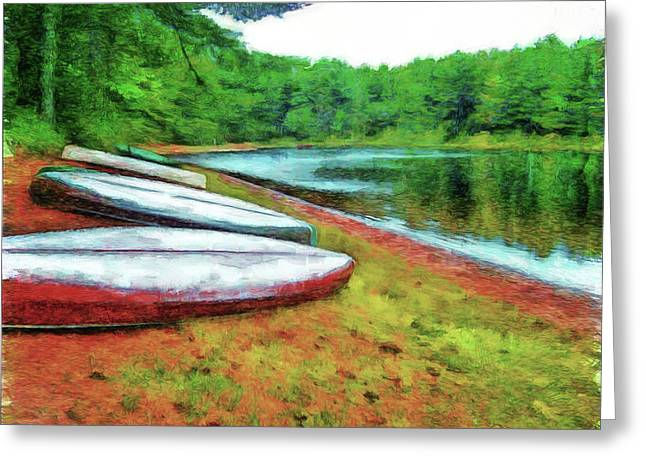Kearney Lake Beach Greeting Card