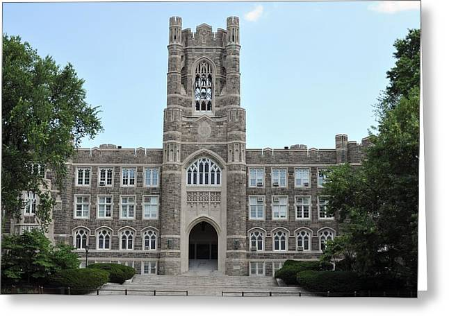 Keating Hall Fordham University Greeting Card by Mike Quinn