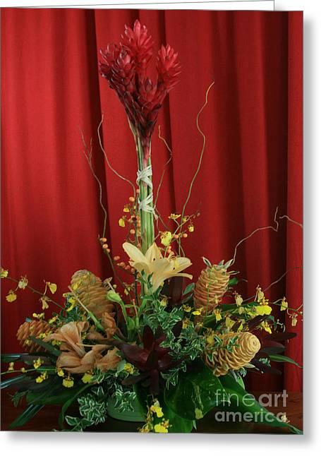 Keawalai Still Life Tropical Flowers Greeting Card