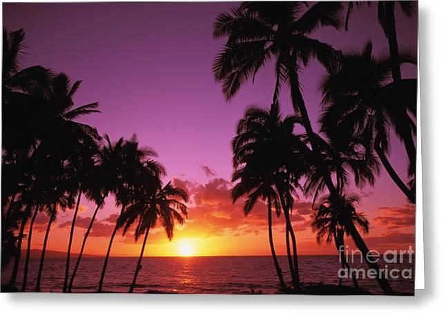 Keawekapu Sunset Greeting Card