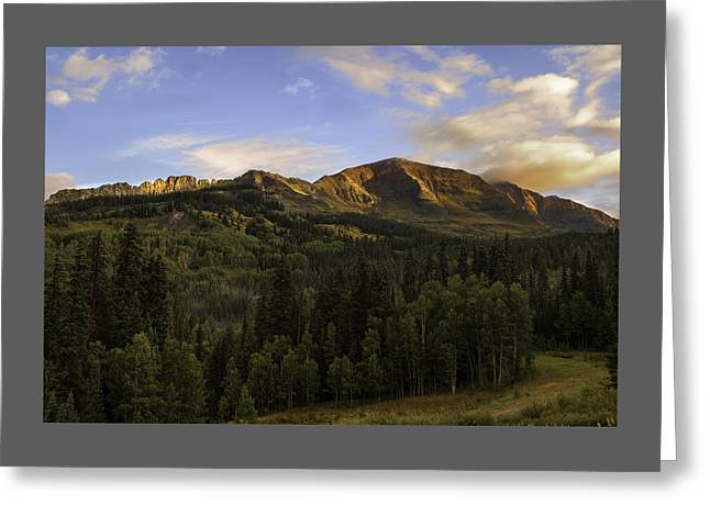 Kebler Pass Colorado  Greeting Card by Thomas Schoeller