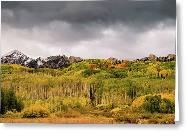 Greeting Card featuring the photograph Kebler Pass by Stephen Holst