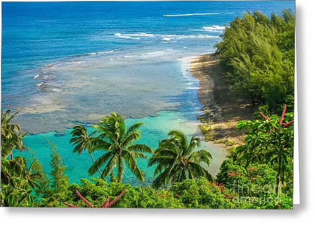 Kee Beach Kauai Greeting Card