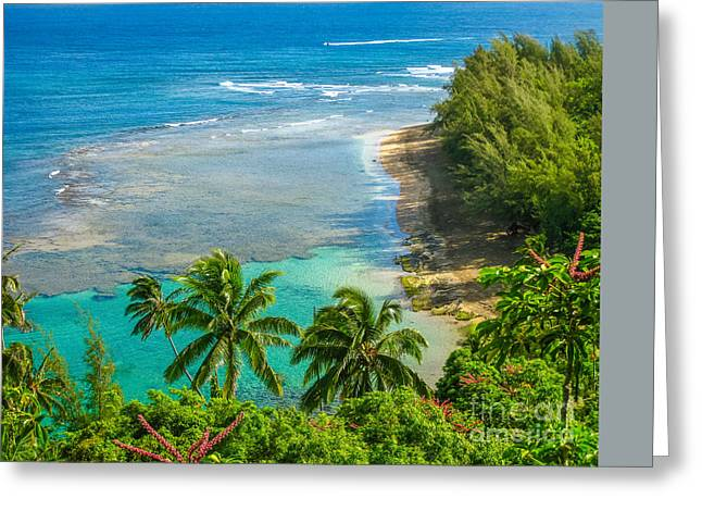 Kee Beach Kauai Greeting Card