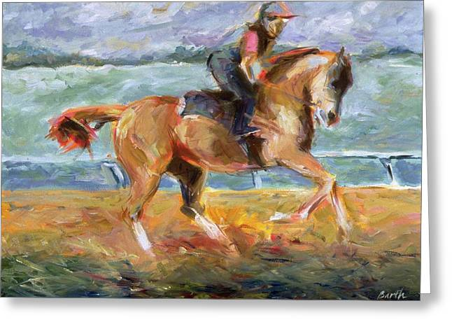 Keeneland Canter Greeting Card