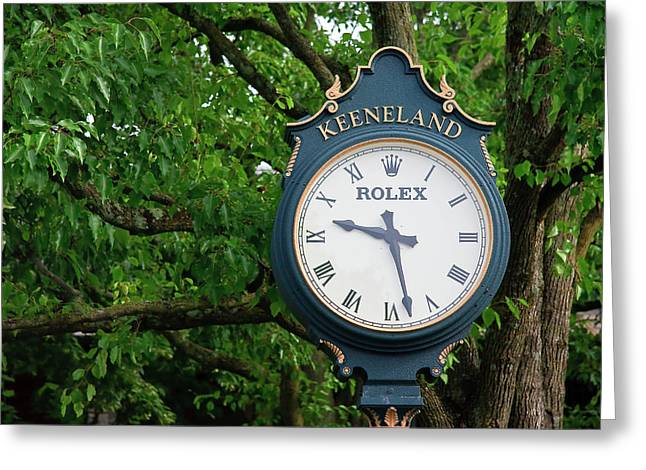Keeneland Clock Greeting Card