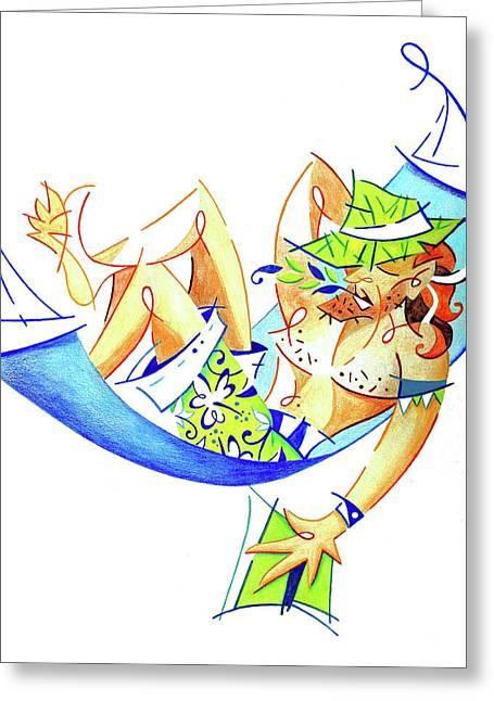 Keep Calm And Enjoy Life - Summer Holiday Illustration Greeting Card