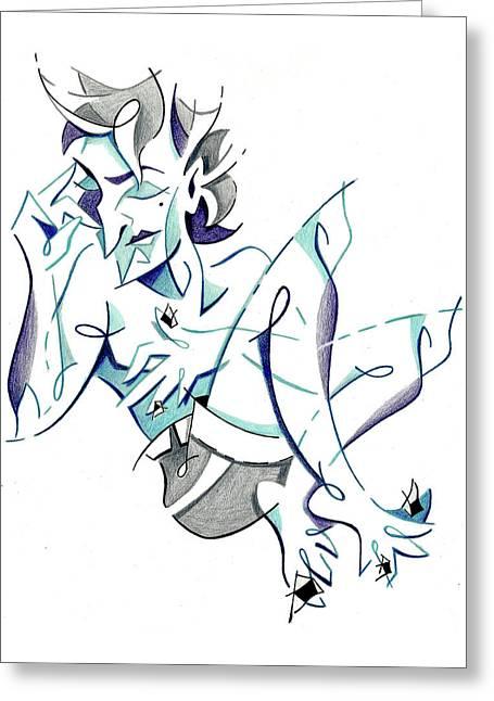 Keep Calm Think Big - Sweet Dreams Illustration Greeting Card by Arte Venezia