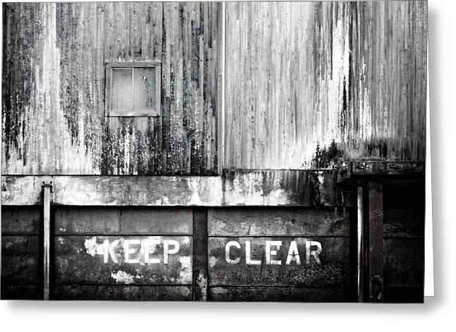 Keep Clear Industrial Art Greeting Card