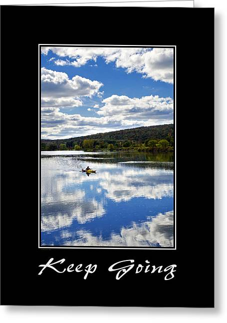 Keep Going Inspirational Poster Greeting Card