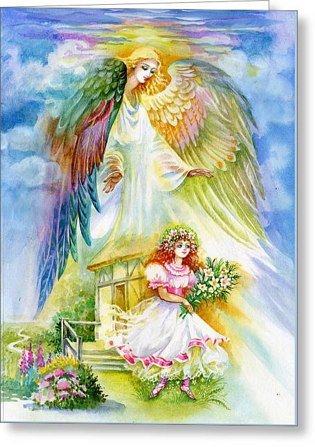 Keep Her Safe Lord Greeting Card by Karen Showell