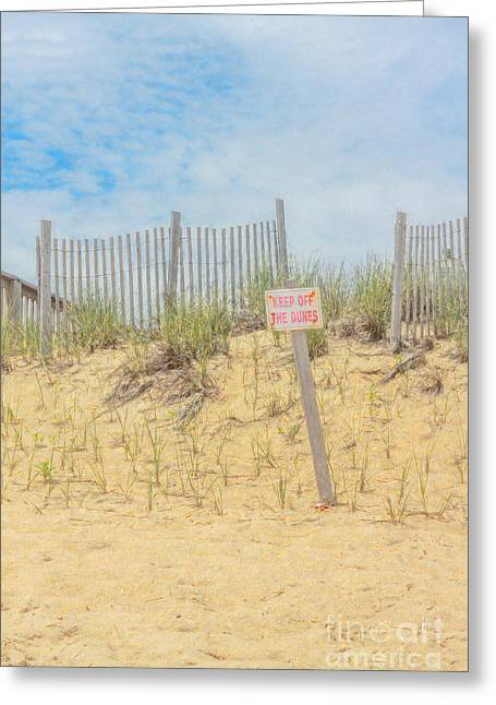 Keep Off The Dunes Greeting Card by Randy Steele