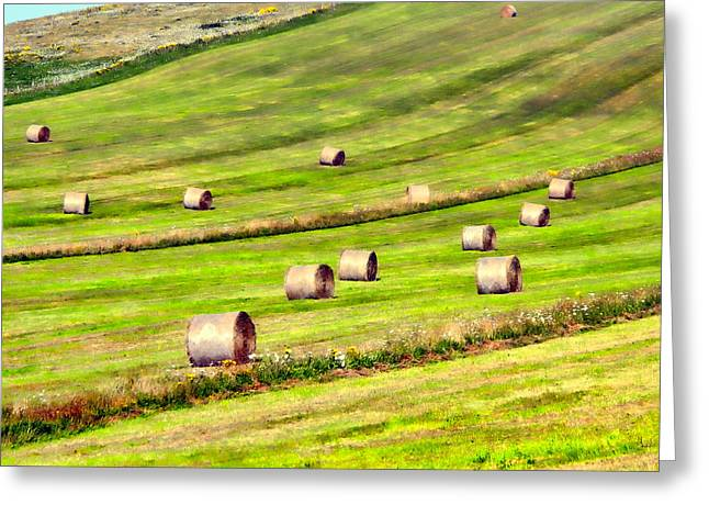 Bale Greeting Cards - Keep on rolling Greeting Card by Sharon Lisa Clarke