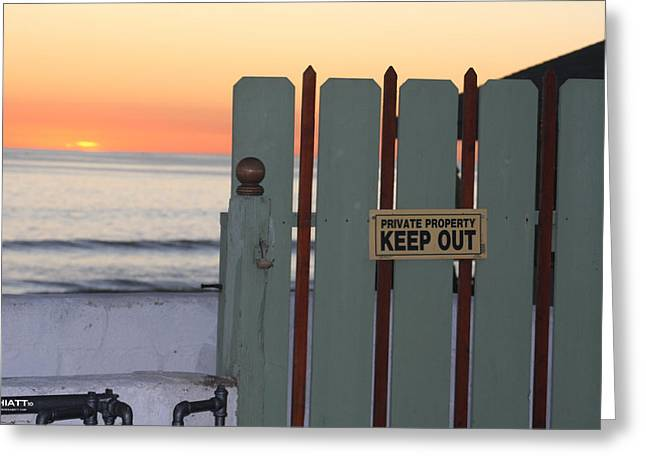 Keep Out Greeting Card