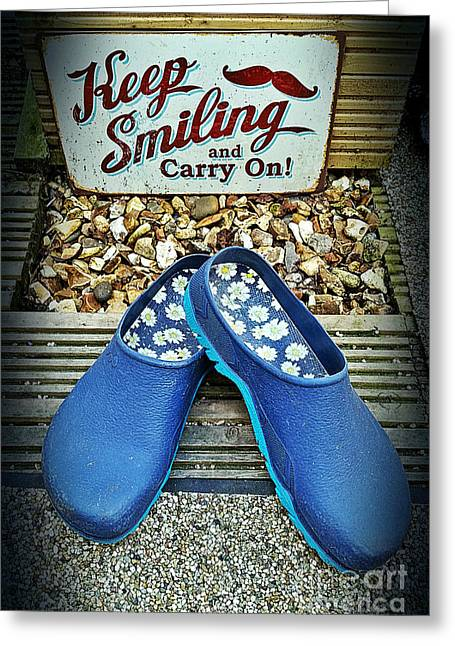 Keep Smiling And Carry On Greeting Card