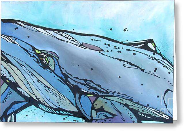 Keep Swimming Greeting Card by Nicole Gaitan