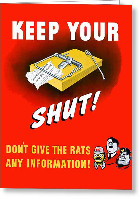 Keep Your Trap Shut -- Ww2 Propaganda Greeting Card