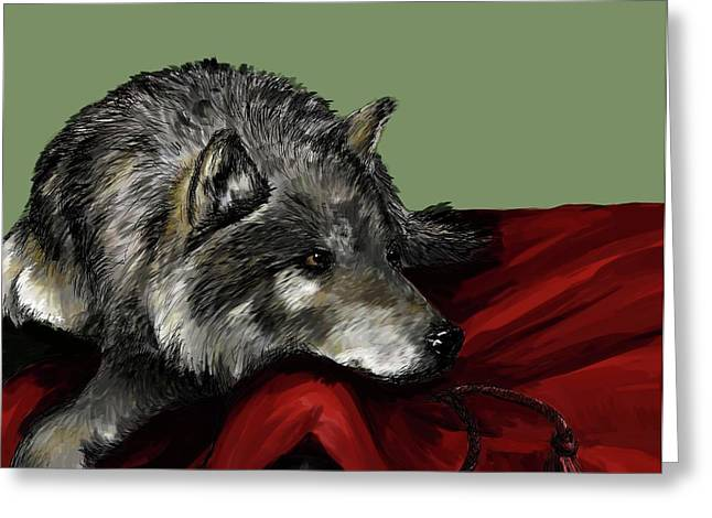 Greeting Card featuring the digital art Keeper Of The Hood by Meagan  Visser