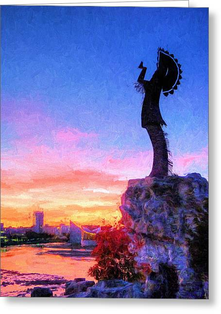 Keeper Of The Plains Greeting Card by JC Findley