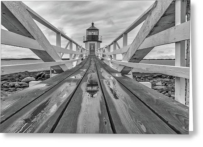 Greeting Card featuring the photograph Keeper's Walkway At Marshall Point by Rick Berk