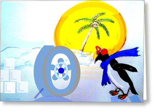 Keeping It Cool Greeting Card by Larry E Lamb