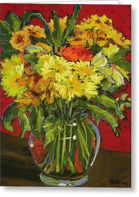 Keeping Mums Greeting Card by Mary McInnis