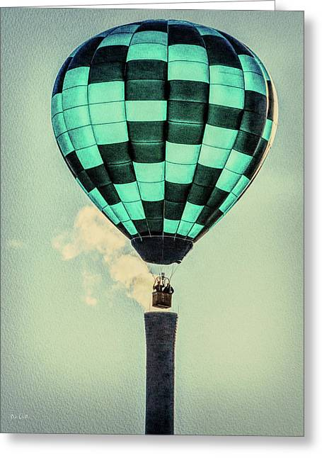 Keeping Warm As You Float Greeting Card by Bob Orsillo