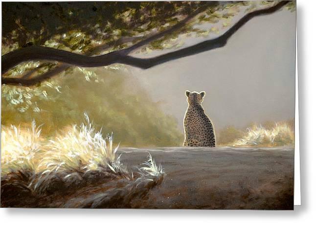 Keeping Watch - Cheetah Greeting Card