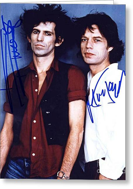 Keith And Mick Signed Greeting Card by Pd