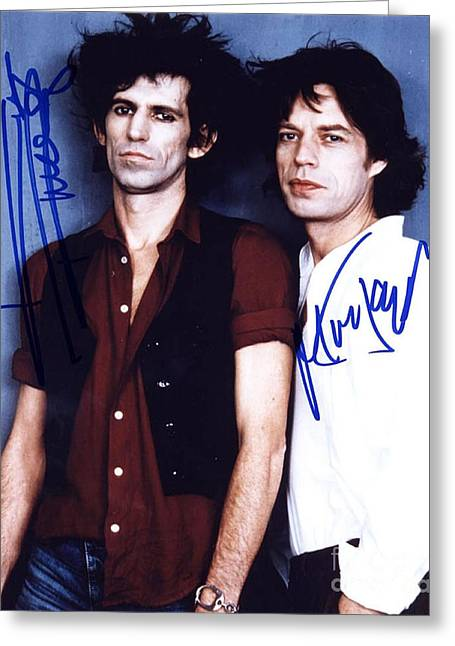 Keith Richards And Mick Jagger Greeting Card by Pd