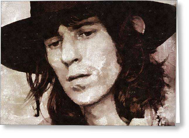 Keith Richards By Mary Bassett Greeting Card