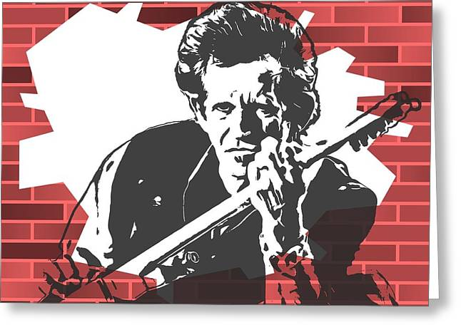 Keith Richards Graffiti Tribute Greeting Card by Dan Sproul