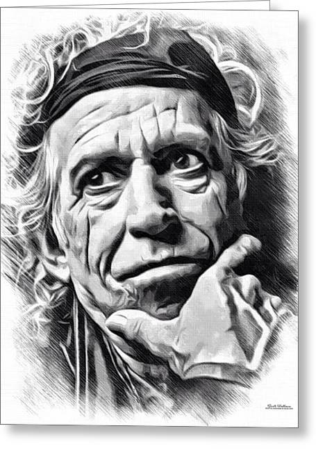 Keith Richards Of The Rolling Stones Greeting Card