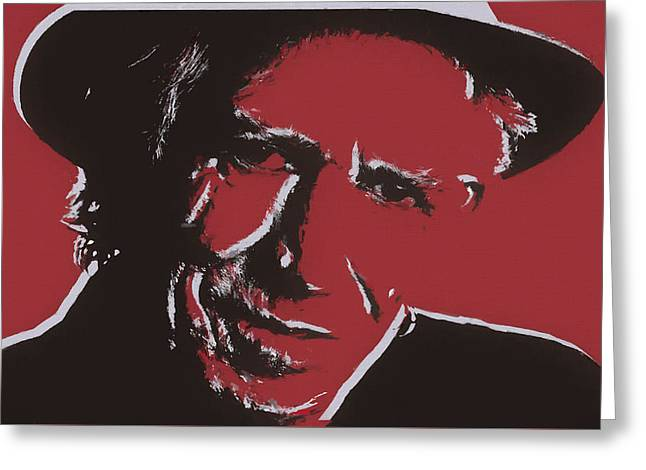 Keith Richards Pop Art Greeting Card by Dan Sproul